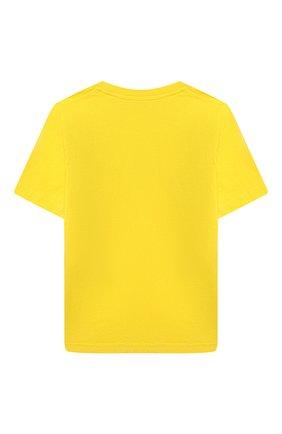 Детская хлопковая футболка DSQUARED2 желтого цвета, арт. DQ0156-D002F | Фото 2