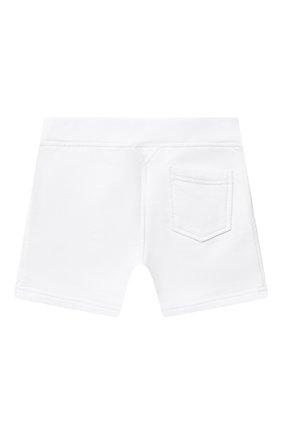 Детские хлопковые шорты DSQUARED2 белого цвета, арт. DQ0250-D002Y   Фото 2