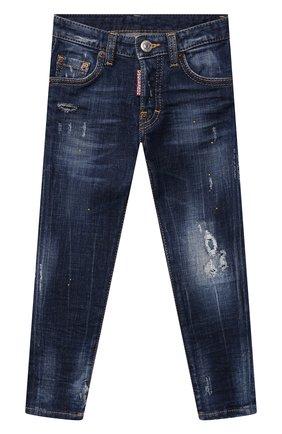 Детские джинсы DSQUARED2 синего цвета, арт. DQ042L-D006G | Фото 1