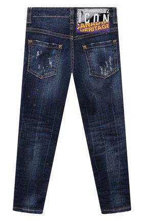 Детские джинсы DSQUARED2 синего цвета, арт. DQ042L-D006G | Фото 2