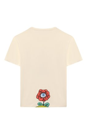 Детская хлопковая футболка GUCCI белого цвета, арт. 580991/XJC9N | Фото 2