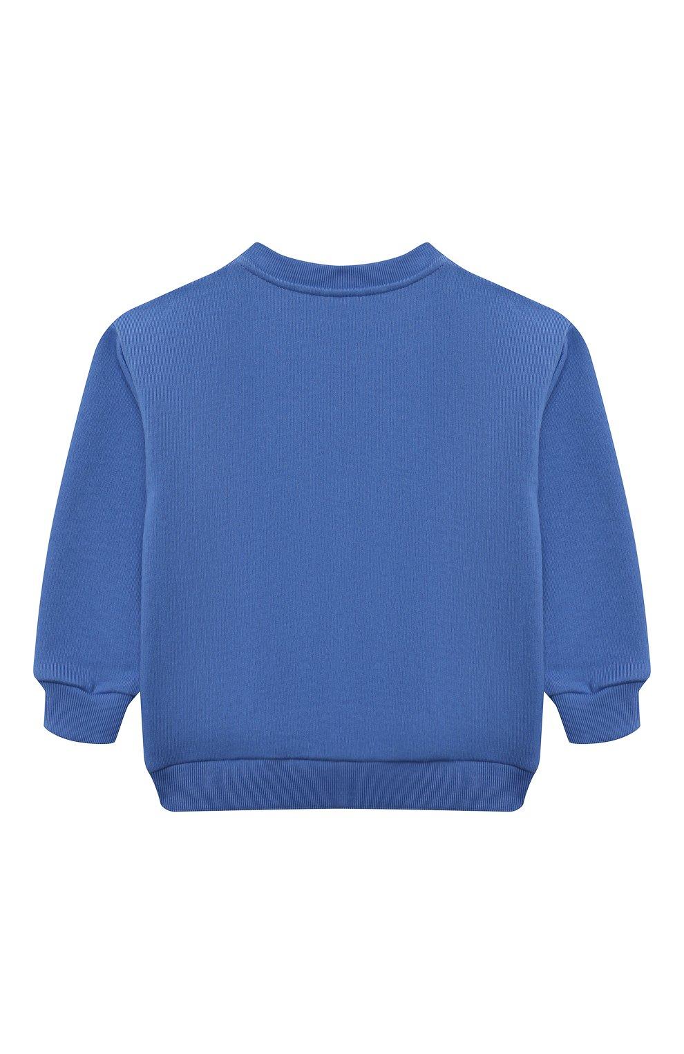Детский хлопковый свитшот GUCCI голубого цвета, арт. 629430/XJC7C | Фото 2