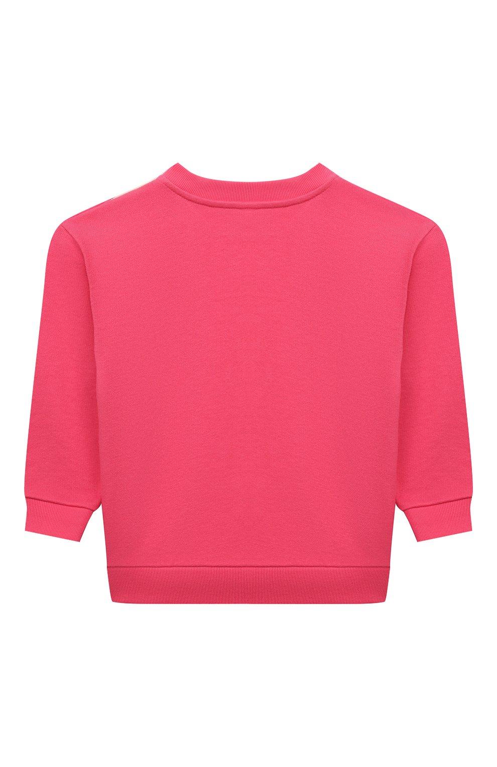 Детский хлопковый свитшот GUCCI розового цвета, арт. 629430/XJC7C | Фото 2