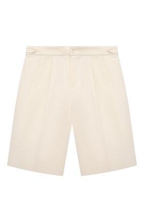 Детские хлопковые шорты GUCCI белого цвета, арт. 638068/XWAMM   Фото 1