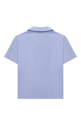 Детская хлопковая рубашка GUCCI голубого цвета, арт. 638079/XWAMU | Фото 2