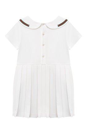 Женский хлопковое платье GUCCI белого цвета, арт. 647003/XJC85 | Фото 2