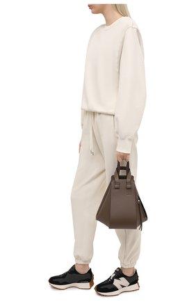 Женские комбинированные кроссовки 327 future classics NEW BALANCE черно-белого цвета, арт. WS327KC/B | Фото 2