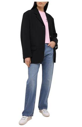 Женская хлопковая футболка SEVEN LAB светло-розового цвета, арт. T20-CYPN pink | Фото 2