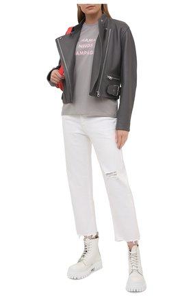 Женская хлопковая футболка SEVEN LAB светло-серого цвета, арт. T20-MNC grey | Фото 2