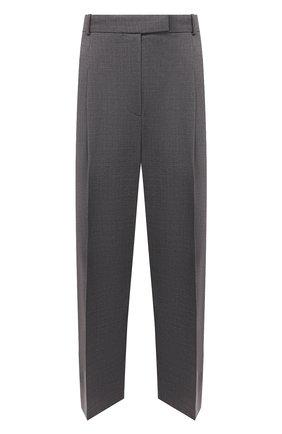 Женские шерстяные брюки BOSS серого цвета, арт. 50450110 | Фото 1