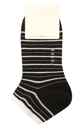 Женские хлопковые носки FALKE черного цвета, арт. 46336 | Фото 1