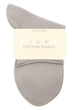 Женские носки cotton touch FALKE серого цвета, арт. 47539 | Фото 1