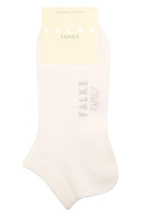 Женские хлопковые носки family FALKE белого цвета, арт. 47629 | Фото 1