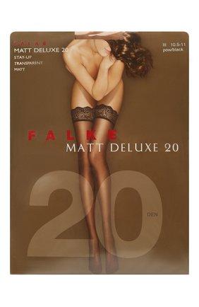 Женские чулки matt deluxe 20 FALKE черного цвета, арт. 41520 | Фото 1