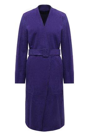 Женское замшевое пальто YVES SALOMON фиолетового цвета, арт. 21EYM20510APDF | Фото 1