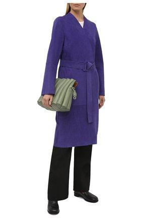 Женское замшевое пальто YVES SALOMON фиолетового цвета, арт. 21EYM20510APDF | Фото 2