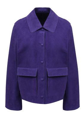 Женская замшевая куртка YVES SALOMON фиолетового цвета, арт. 20EYV20855APDF | Фото 1