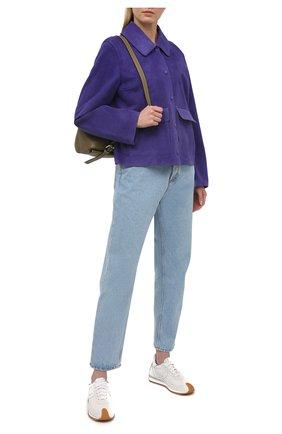 Женская замшевая куртка YVES SALOMON фиолетового цвета, арт. 20EYV20855APDF | Фото 2