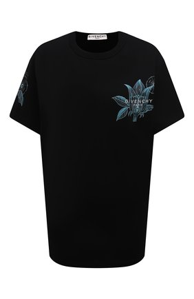 Женская хлопковая футболка GIVENCHY черного цвета, арт. BW707Z3Z4W | Фото 1