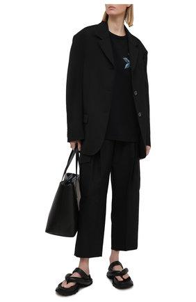 Женская хлопковая футболка GIVENCHY черного цвета, арт. BW707Z3Z4W | Фото 2