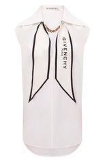 Женская шелковая блузка GIVENCHY белого цвета, арт. BW60ST12EH | Фото 1