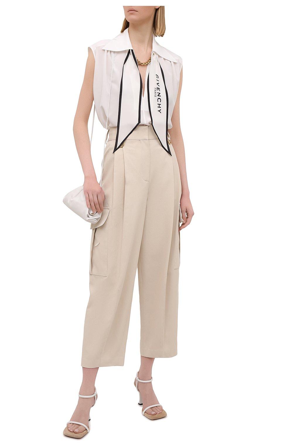 Женская шелковая блузка GIVENCHY белого цвета, арт. BW60ST12EH | Фото 2
