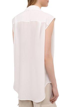 Женская шелковая блузка GIVENCHY белого цвета, арт. BW60ST12EH | Фото 4