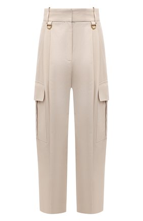 Женские хлопковые брюки GIVENCHY бежевого цвета, арт. BW50NA11QN | Фото 1