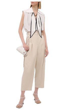 Женские хлопковые брюки GIVENCHY бежевого цвета, арт. BW50NA11QN | Фото 2