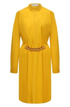 Женское хлопковое платье GIVENCHY желтого цвета, арт. BW212X130A | Фото 1