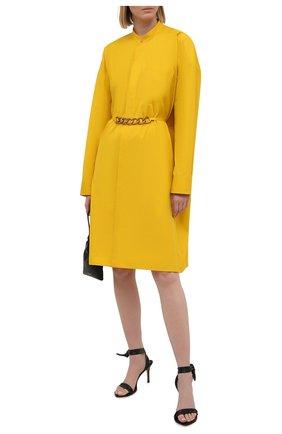 Женское хлопковое платье GIVENCHY желтого цвета, арт. BW212X130A | Фото 2