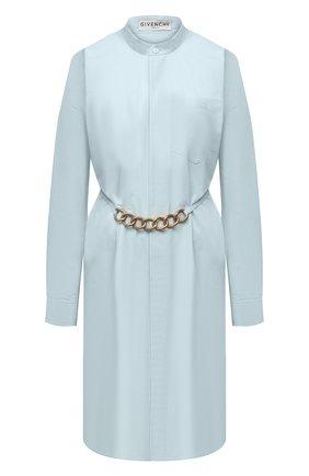 Женское хлопковое платье GIVENCHY голубого цвета, арт. BW212X130A   Фото 1