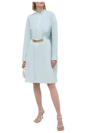 Женское хлопковое платье GIVENCHY голубого цвета, арт. BW212X130A   Фото 2