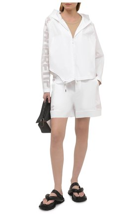 Женская хлопковая ветровка DSQUARED2 белого цвета, арт. S75AM0846/S53579 | Фото 2