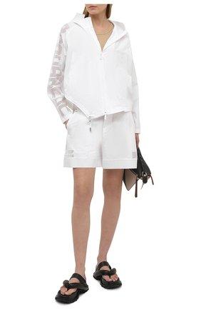 Женские хлопковые шорты DSQUARED2 белого цвета, арт. S75MU0372/S53579 | Фото 2