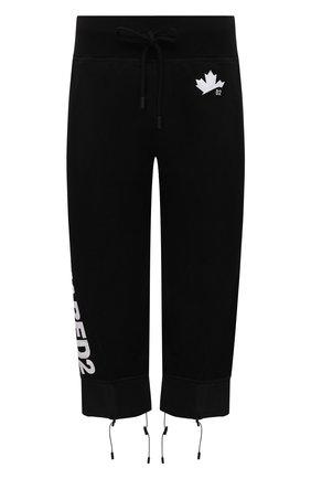 Женские хлопковые брюки DSQUARED2 черного цвета, арт. S75KB0200/S25042 | Фото 1