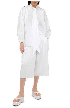 Женские кожаные сабо LE SILLA белого цвета, арт. 2599S040M1PPCHI   Фото 2