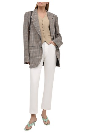 Женские кожаные мюли LE SILLA мятного цвета, арт. 5163S060H1PPCHI   Фото 2