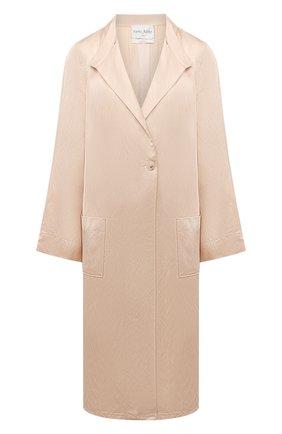 Женское пальто из вискозы и льна FORTE_FORTE бежевого цвета, арт. 8017 | Фото 1