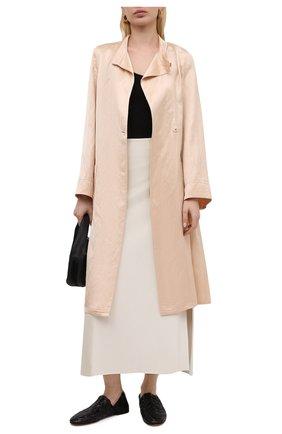 Женское пальто из вискозы и льна FORTE_FORTE бежевого цвета, арт. 8017 | Фото 2