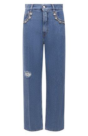Женские джинсы GOLDEN GOOSE DELUXE BRAND голубого цвета, арт. GWP00102.P000407 | Фото 1