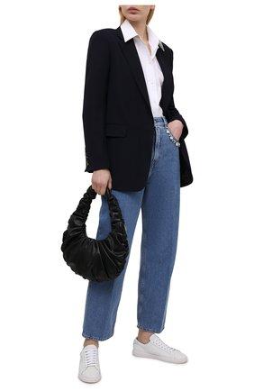 Женские джинсы GOLDEN GOOSE DELUXE BRAND голубого цвета, арт. GWP00102.P000407 | Фото 2