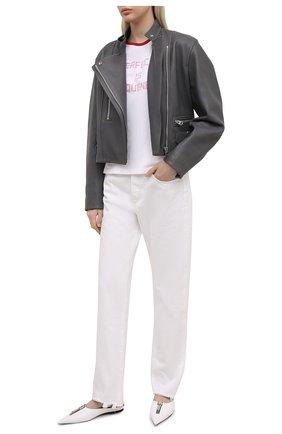 Женская хлопковая футболка GOLDEN GOOSE DELUXE BRAND белого цвета, арт. GWP00744.P000418 | Фото 2
