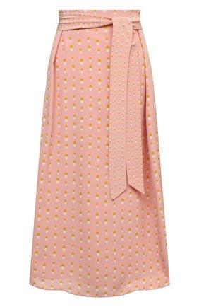 Женская шелковая юбка LORO PIANA розового цвета, арт. FAL6379 | Фото 1