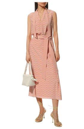 Женская шелковая юбка LORO PIANA розового цвета, арт. FAL6379 | Фото 2