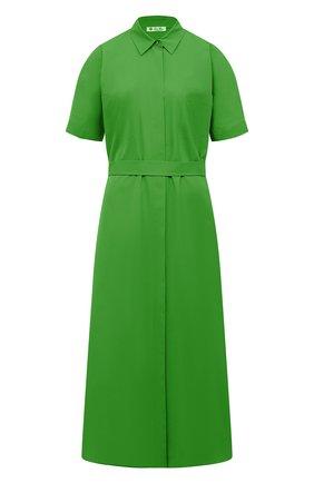 Женское хлопковое платье LORO PIANA зеленого цвета, арт. FAL6277 | Фото 1