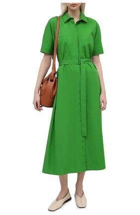 Женское хлопковое платье LORO PIANA зеленого цвета, арт. FAL6277 | Фото 2