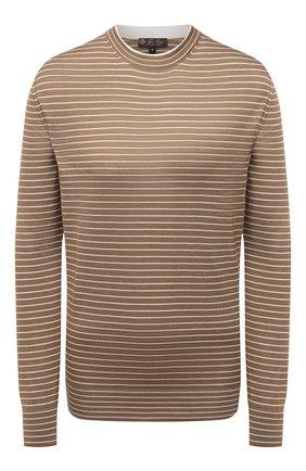 Женский пуловер из кашемира и шелка LORO PIANA коричневого цвета, арт. FAL5235 | Фото 1
