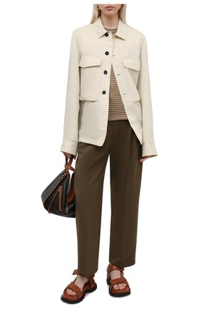Женский пуловер из кашемира и шелка LORO PIANA коричневого цвета, арт. FAL5235 | Фото 2