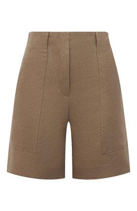 Женские льняные шорты LORO PIANA коричневого цвета, арт. FAL0703 | Фото 1